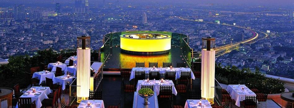 Uitzicht over de stad Bangkok